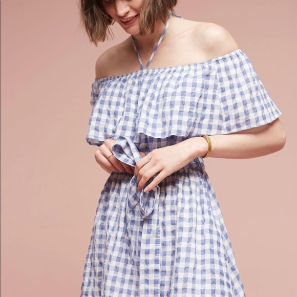 063e9099f36 Anthropologie Dresses   Skirts - Anthropologie 11•1 Thylo Blue Gingham Dress